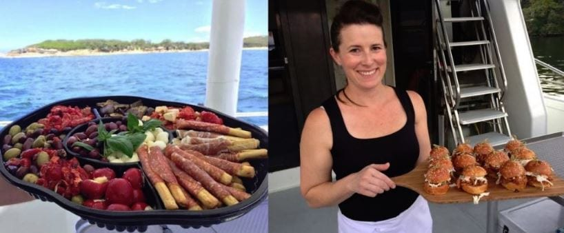 Christmas party cruise catering in Cronulla