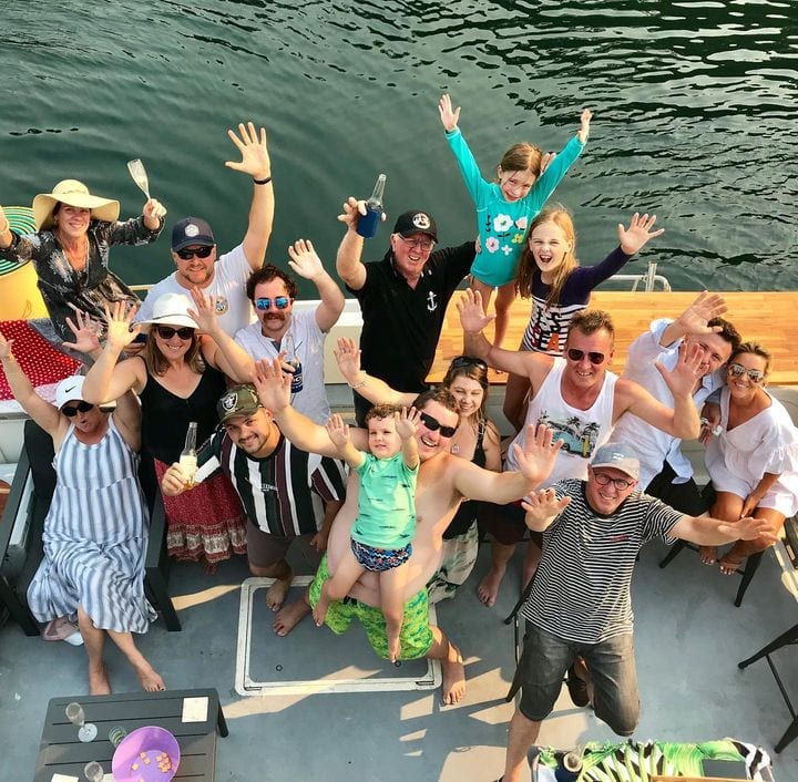 Offrice Christmas ork riverboat party Cronulla